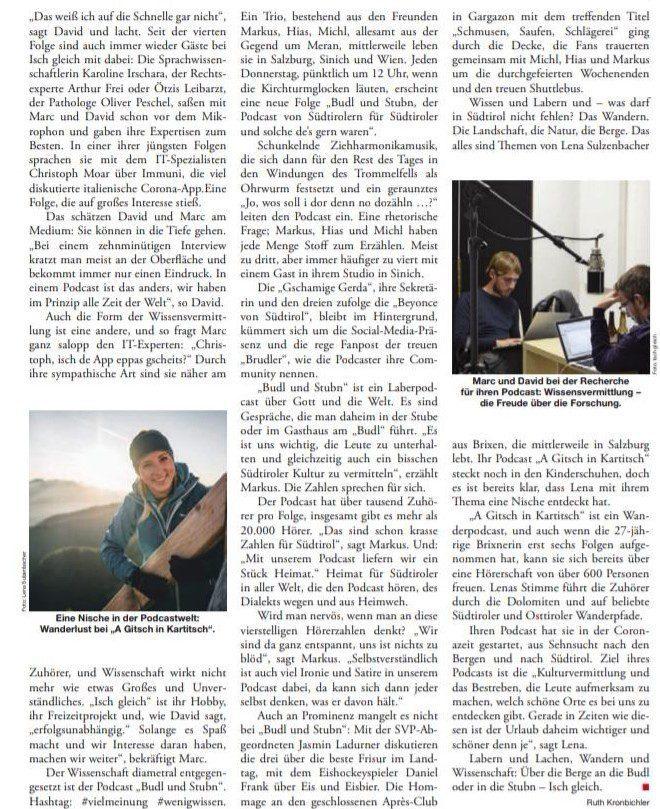 a Gitsch in Kartitsch - der Wanderpodcast von Lena Sulzenbacher - FF - das Südtiroler Wochenmagazin 2